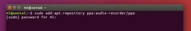 Audio Recorder PPA