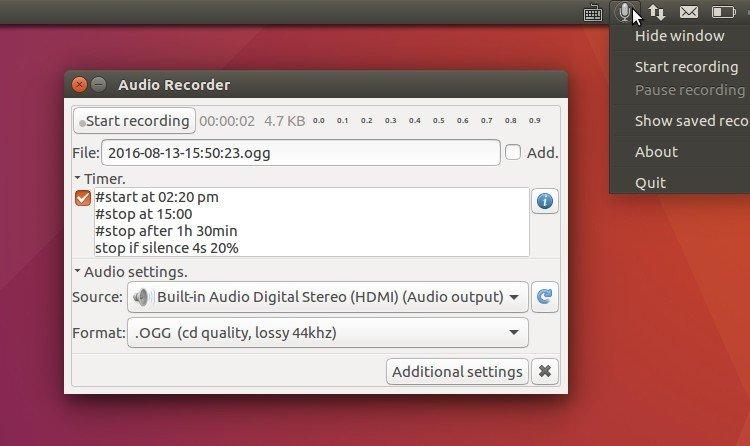 How to Install Audio Recorder in Ubuntu 16 04, 16 10 - Tips on Ubuntu