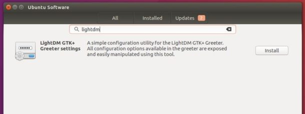 install LightDM GTK Greeter