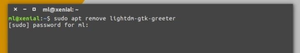 remove Lightdm gtk+ greeter