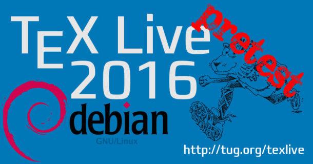 Tex Live 2016