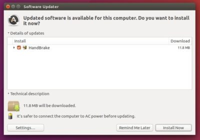 upgrade handbrake in Ubuntu