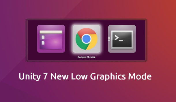 Unity 7 Low Graphics Mode