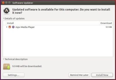 upgrade mpv media player