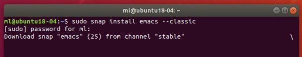 snap-install-emacs